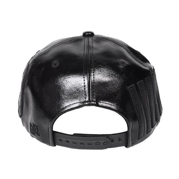 NONA9ON - [ACC] 09 PATCHED FAUX LEATHER SNAPBACK