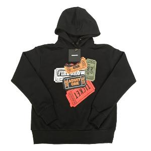 NONA9ON - [WOMEN'S] Ticket Graphic Hoodie (Black_SIZE 2 M) [16FW]